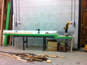 Miter saw table